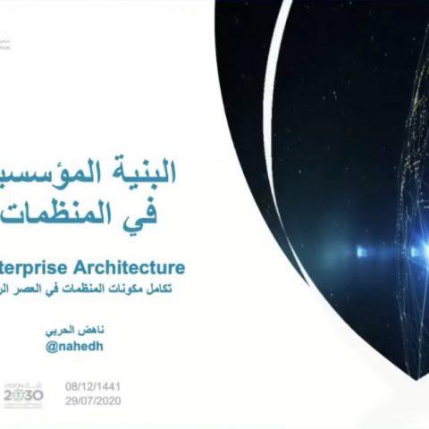 البنية المؤسسية في المنظمات Enterprise Architecture